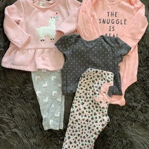 Carter's outfits 6 & 9 months